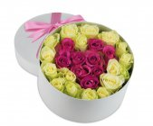 Box of flowers Rosy Love