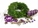 Advent wreath for home creation PURPLE